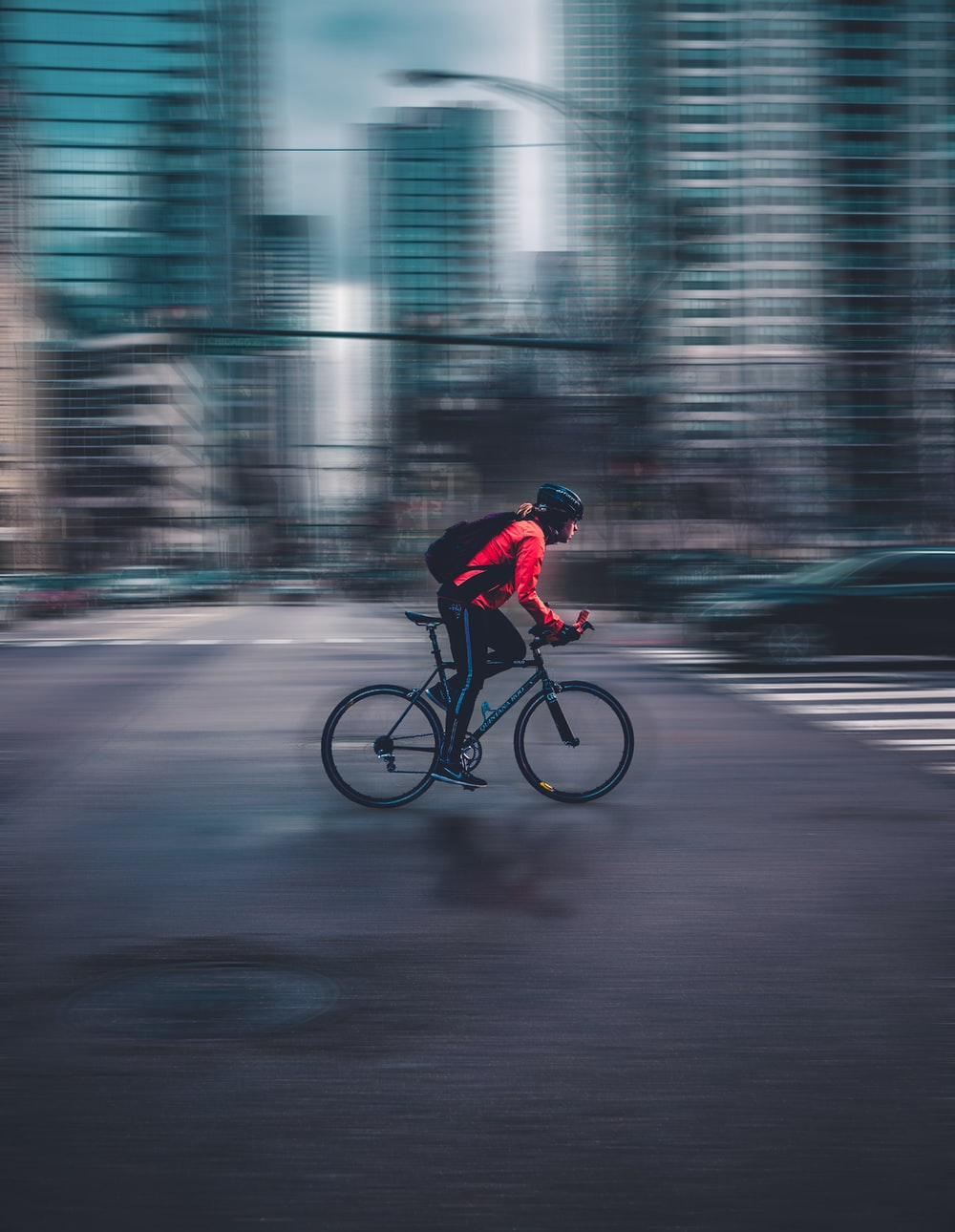 person riding nbicycle