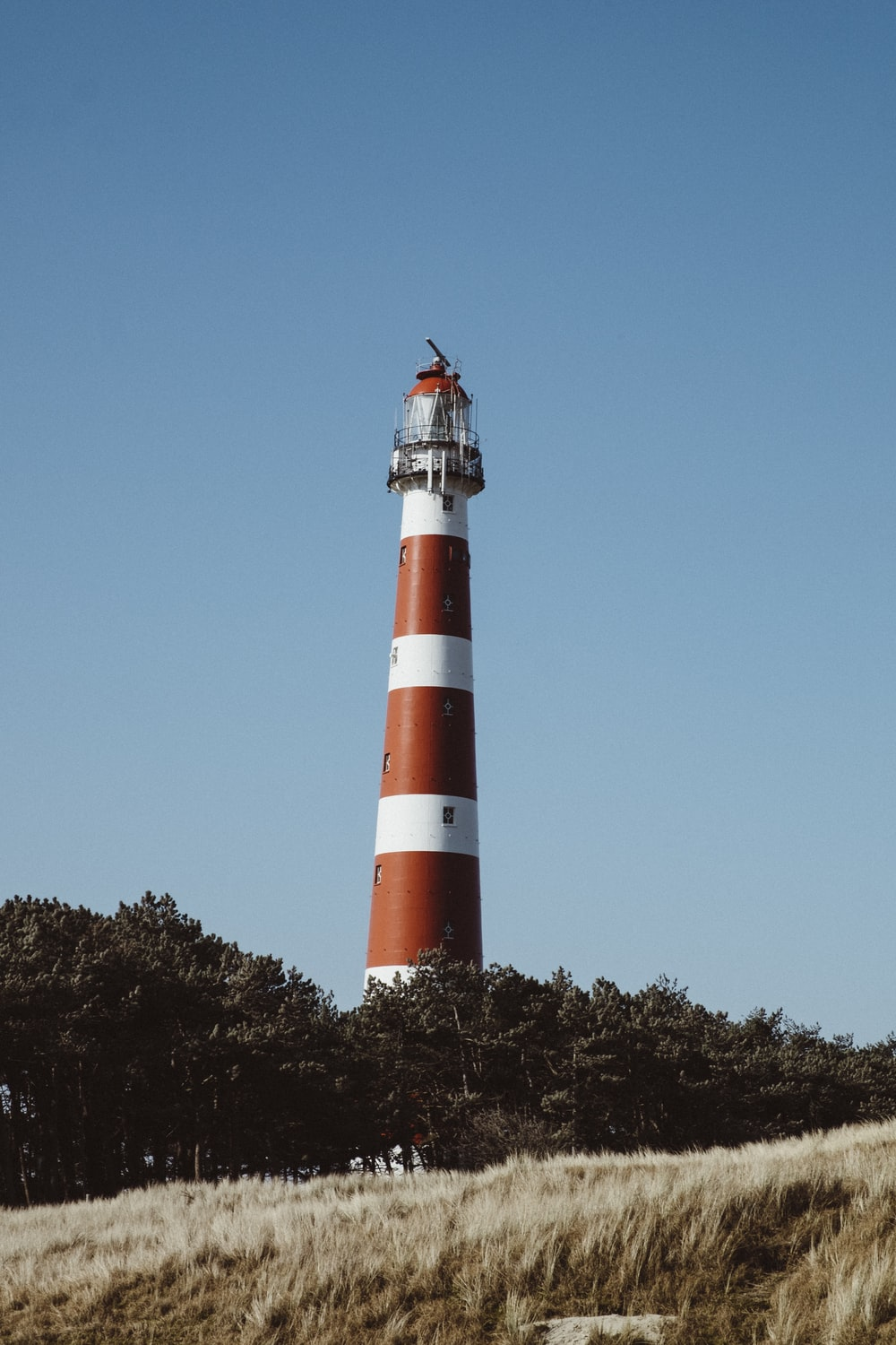 low-angle view of lighthouse