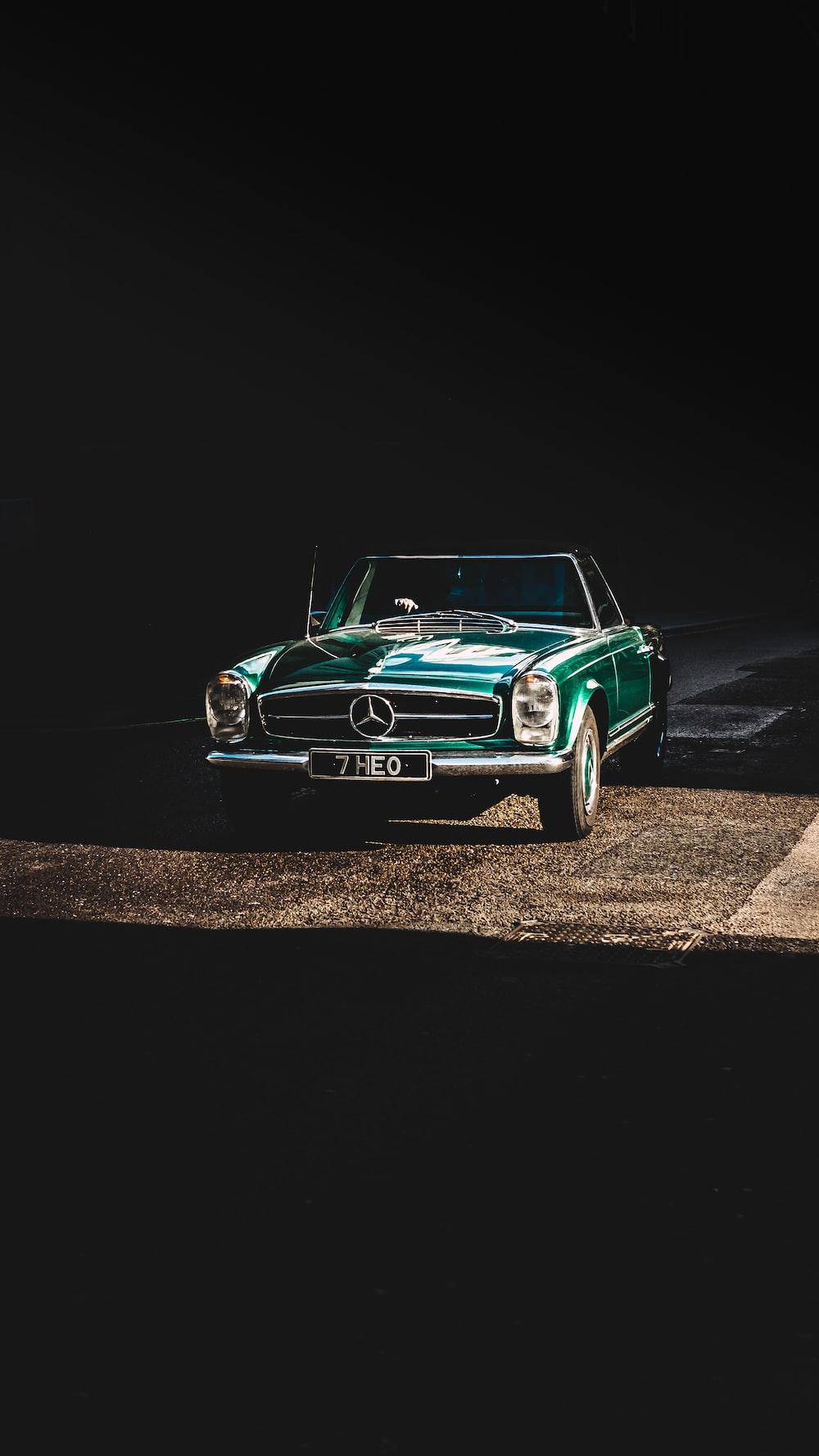 green Mercedes-Benz coupe