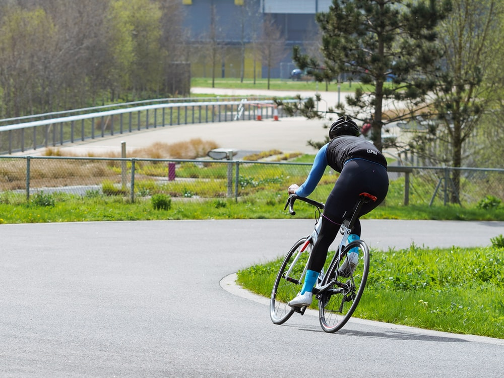 cyclist riding on bicycle