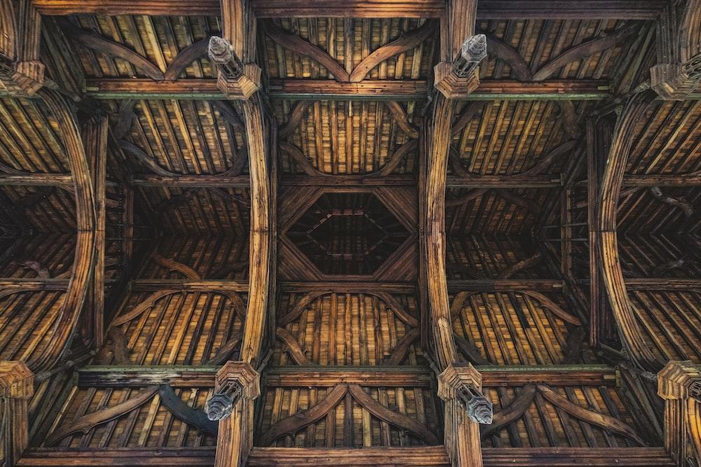 brown wooden building ceiling illustration