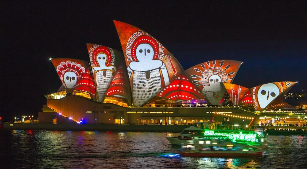 Sidney Opera House at night
