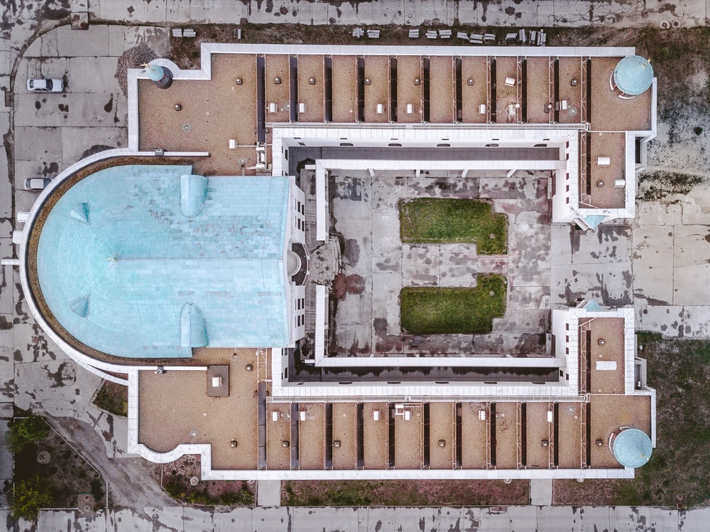 aerial photography of building