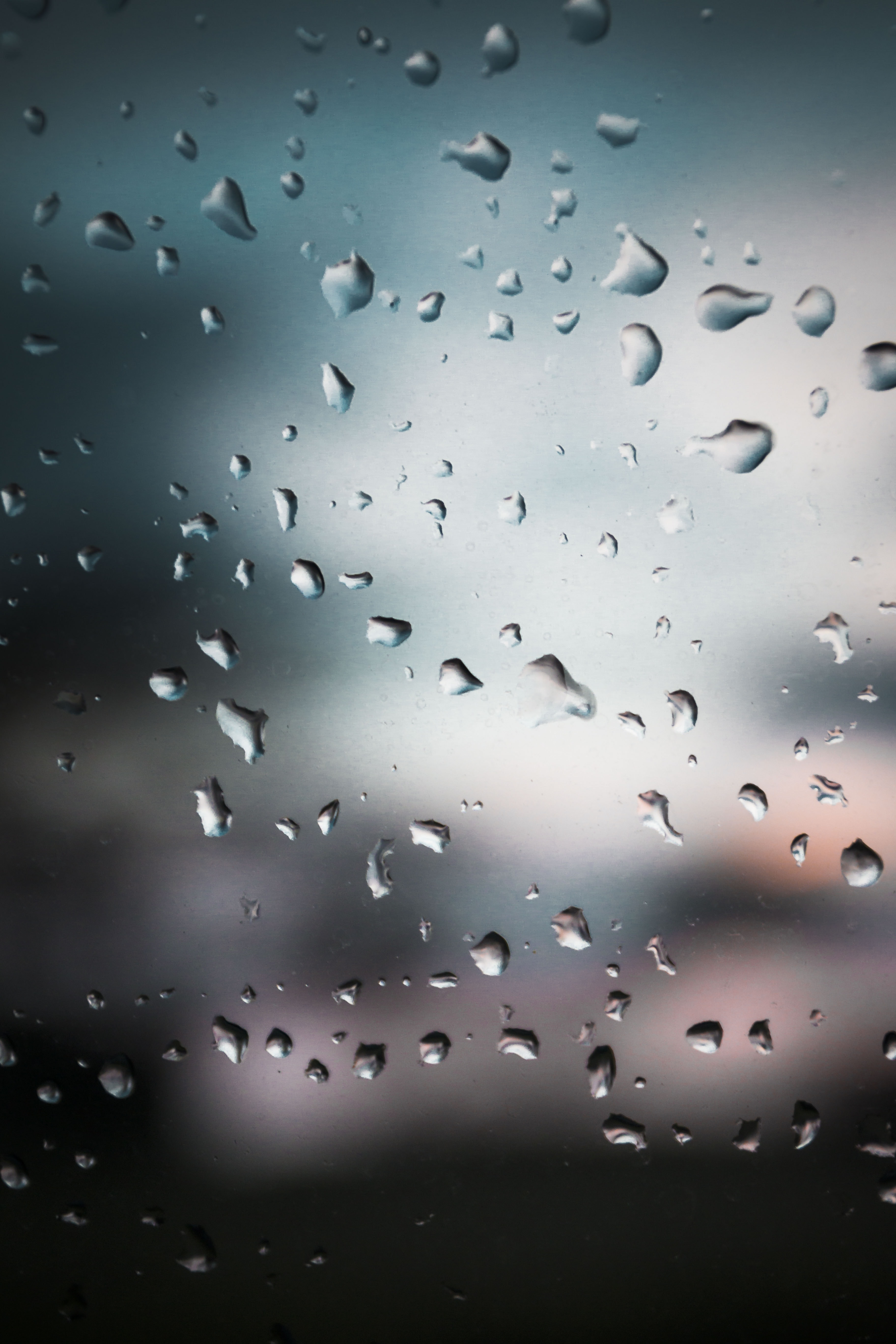 droplets on glass