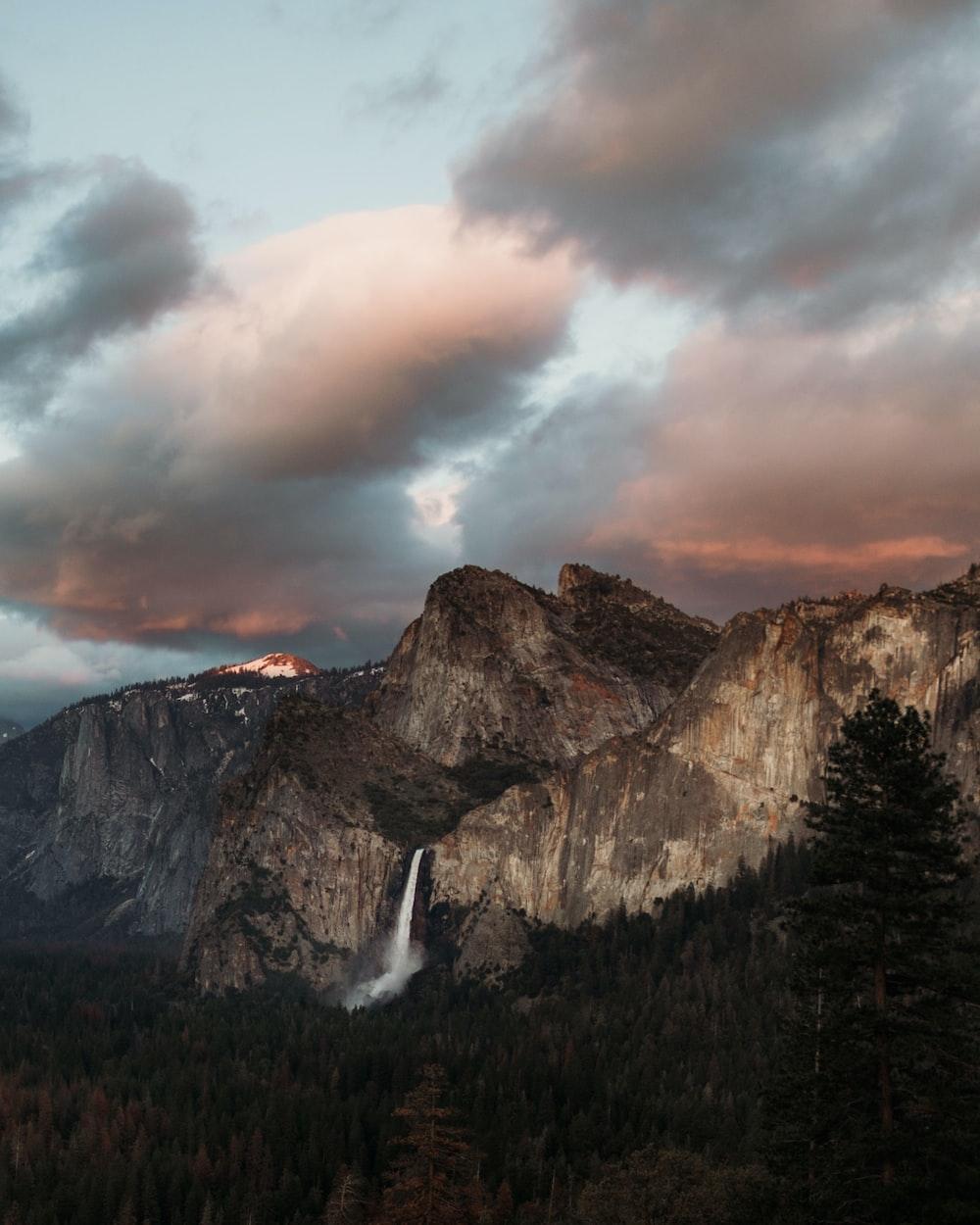 falls on mountain