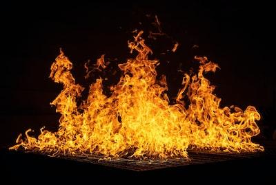 bonfire flame zoom background