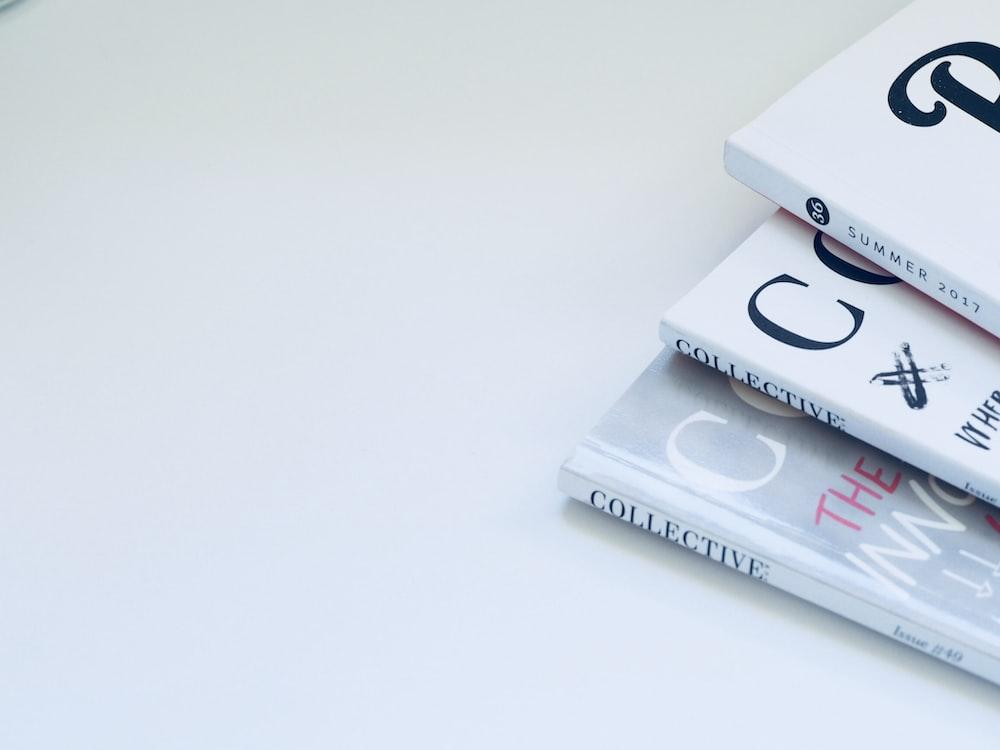 three books on surface