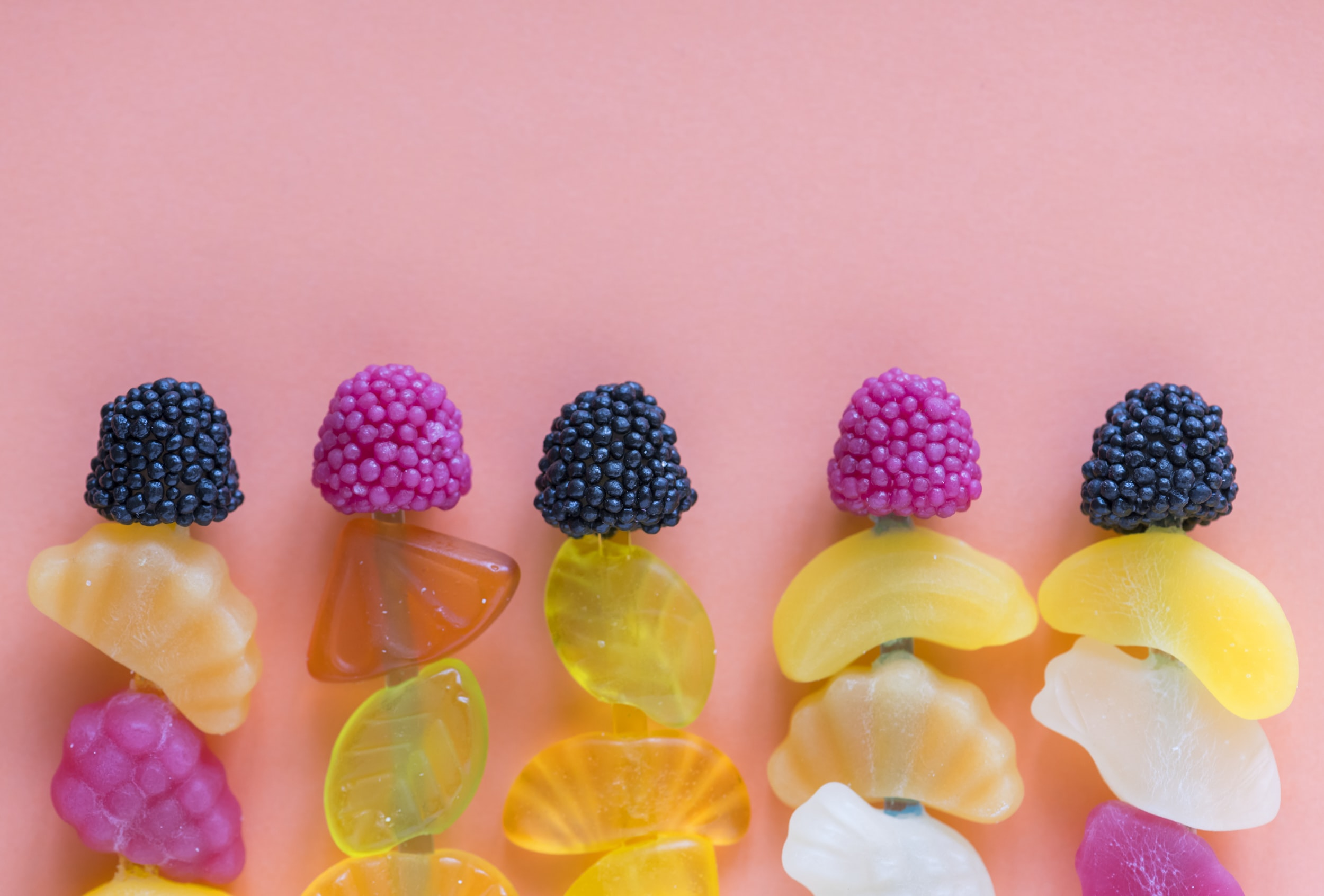 jelly fruit on sticks