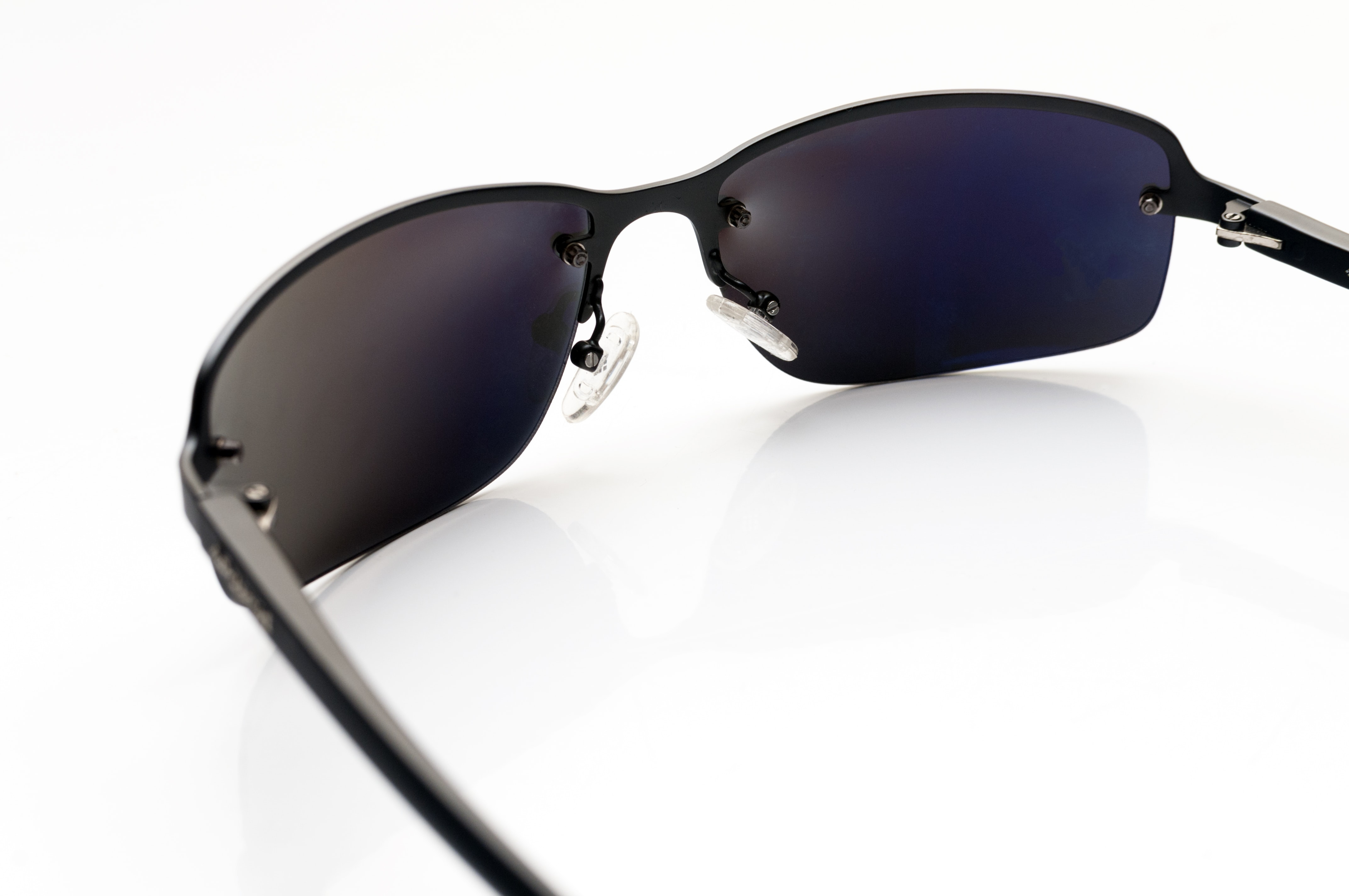 black sunglasses in white background
