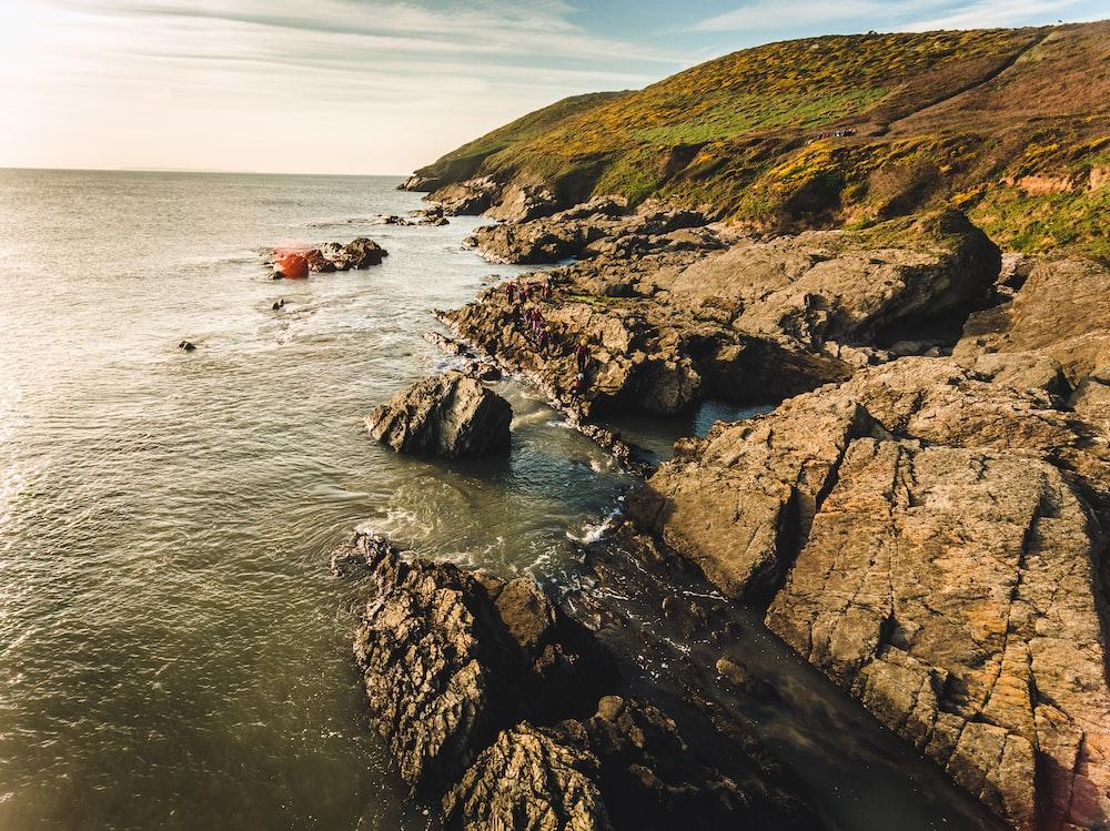 waves crashing rocks