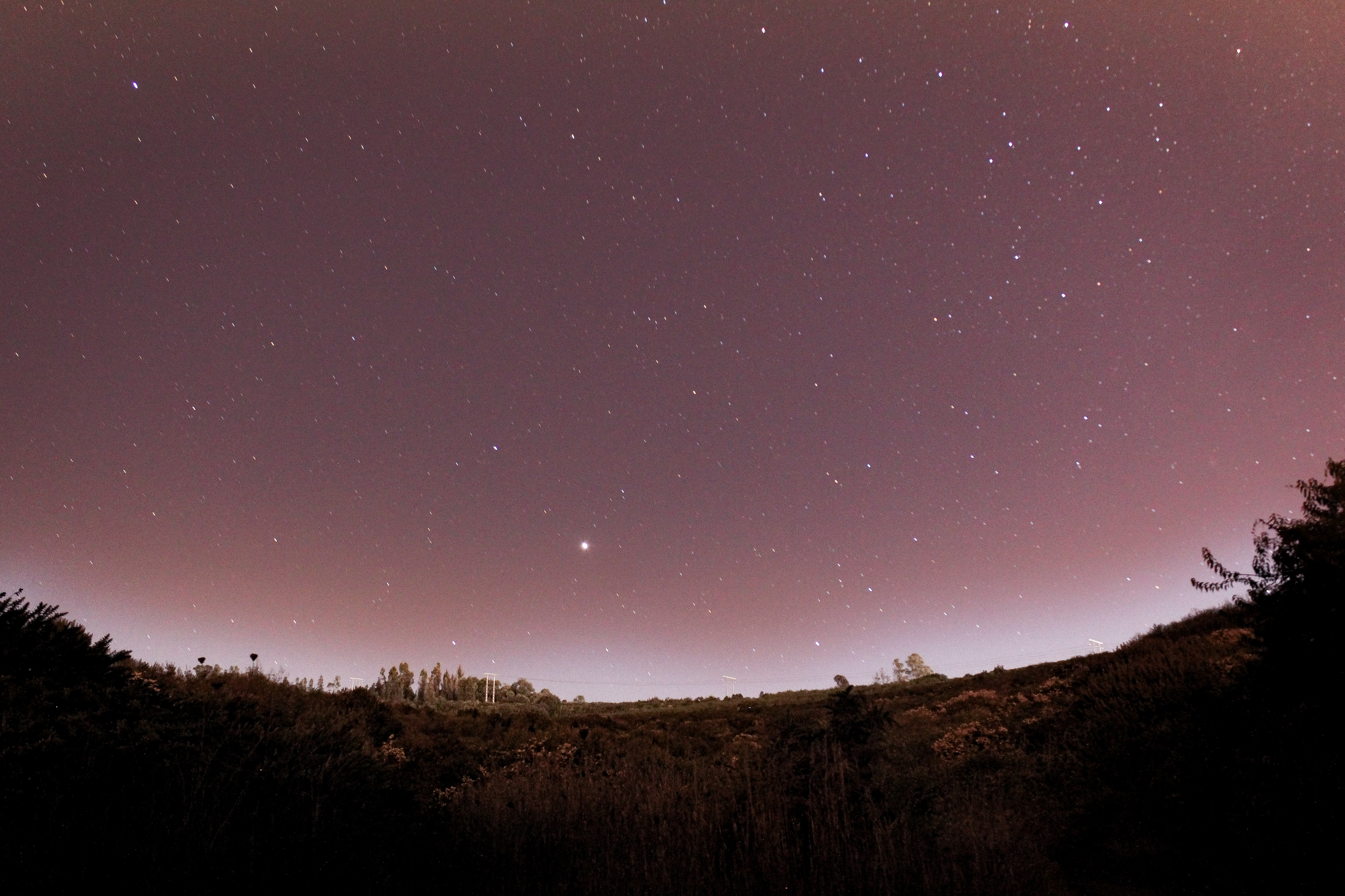 high exposure photography of starry sky at night