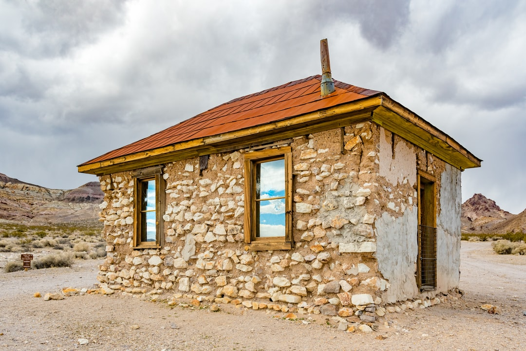 Rhyolite is a ghost town in Nye County, in the U.S. state of Nevada. It is in the Bullfrog Hills, about 120 miles northwest of Las Vegas, near the eastern edge of Death Valley.
