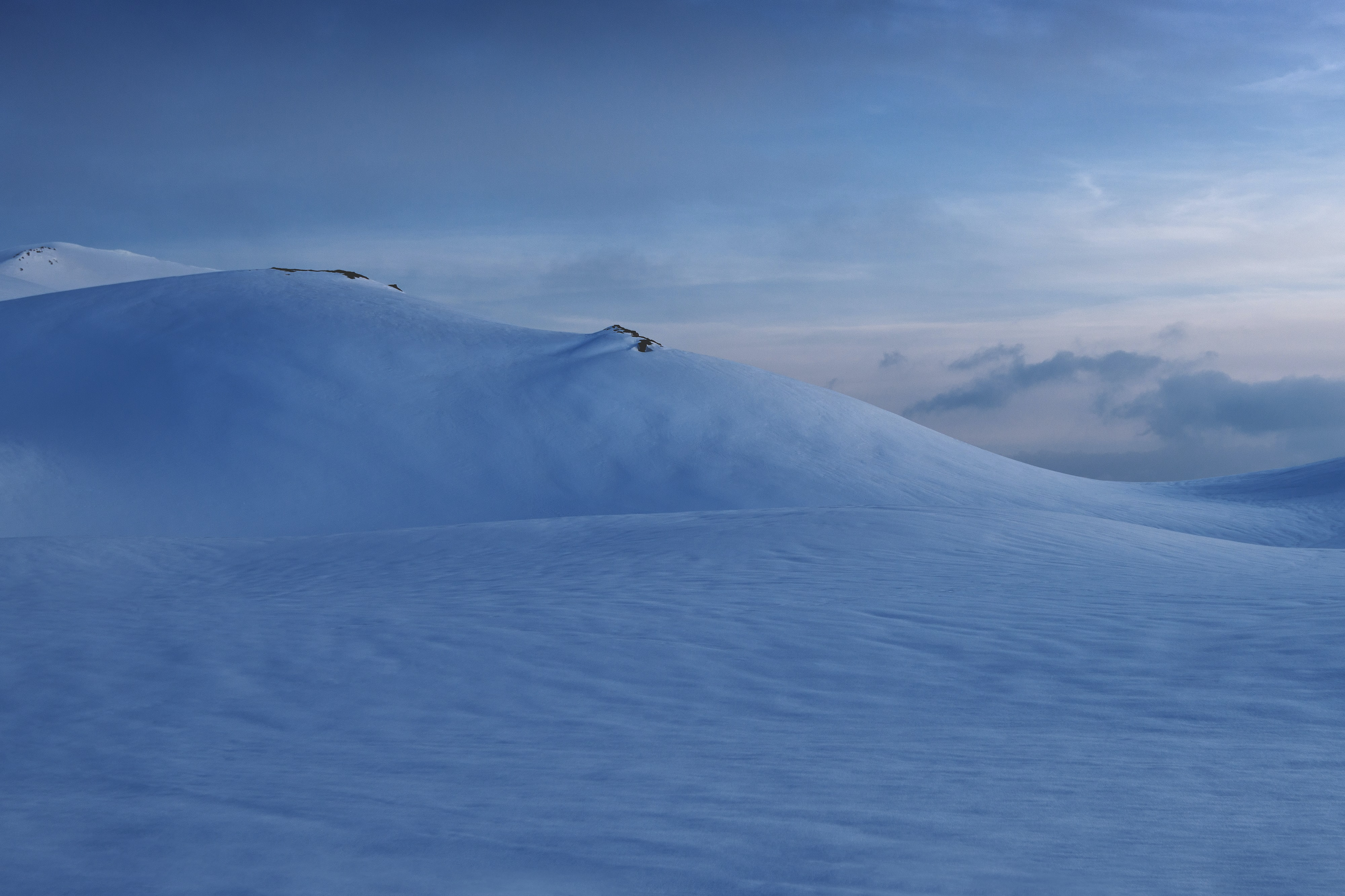 snow covered mountain landscape photography
