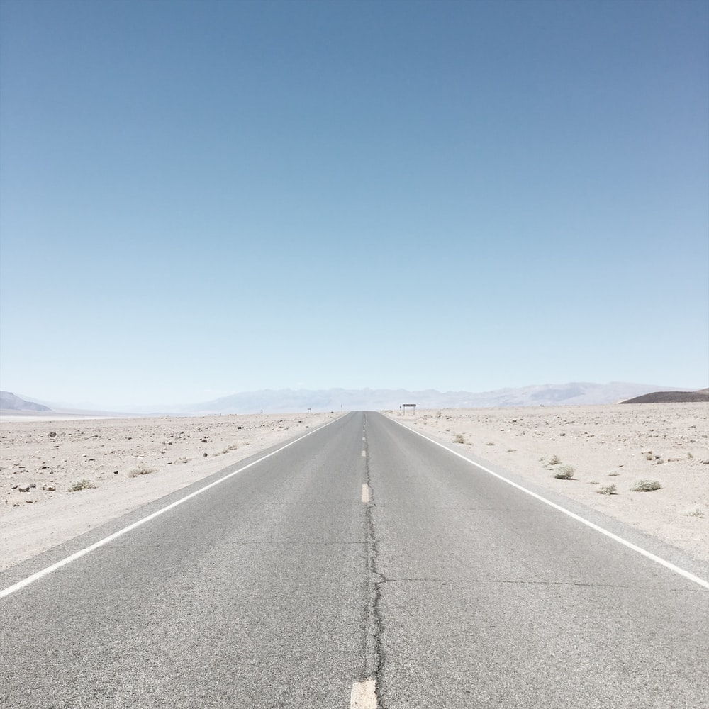 empty highway during daytime