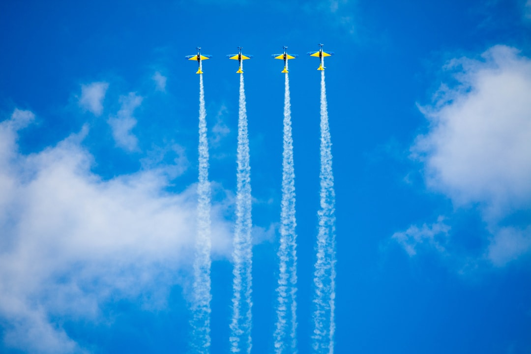 Brazilian Air Force making an airshow