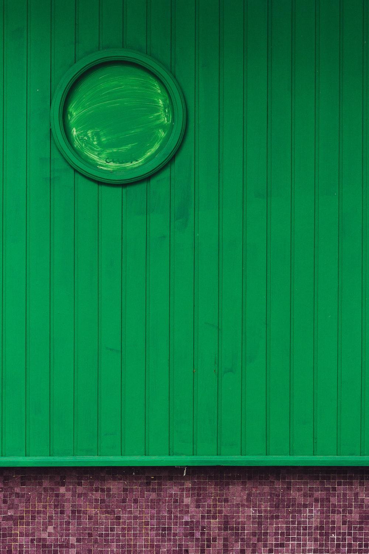 green wooden board