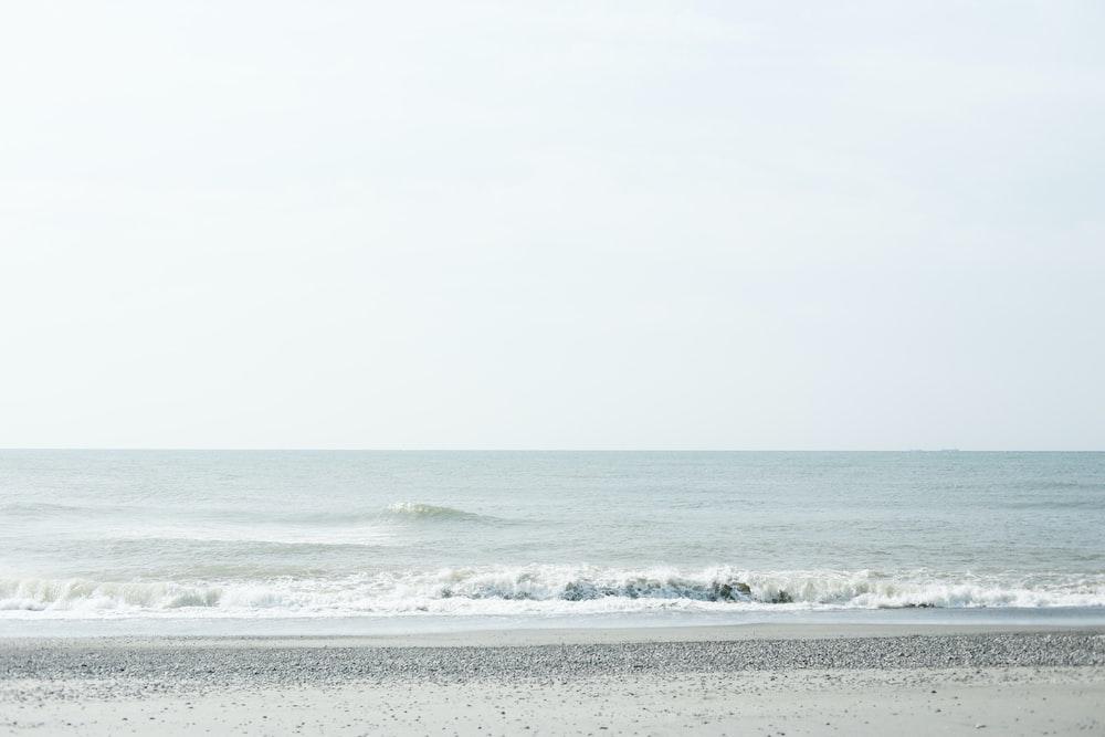 ocean waves crashing to store