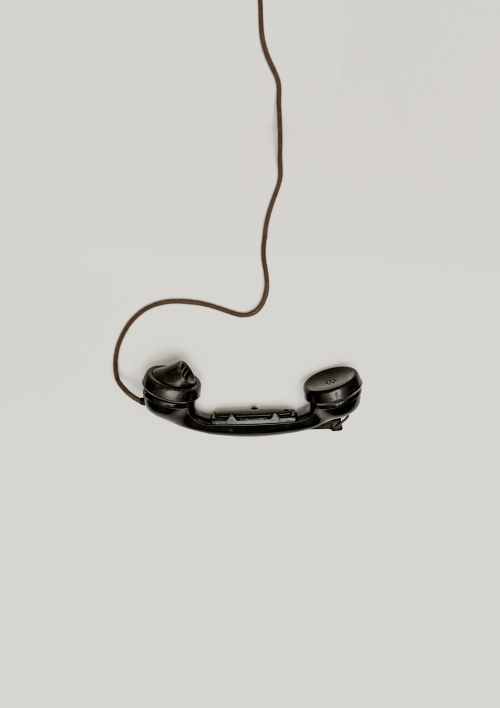 black corded telephone
