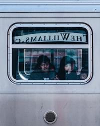 kids looking outside window