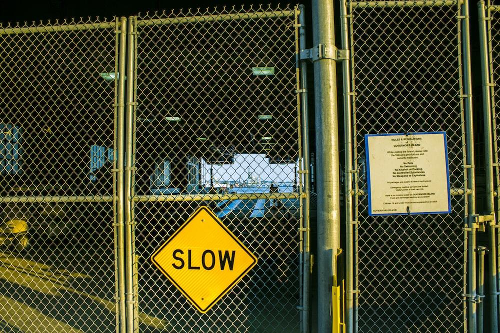 closed gate door