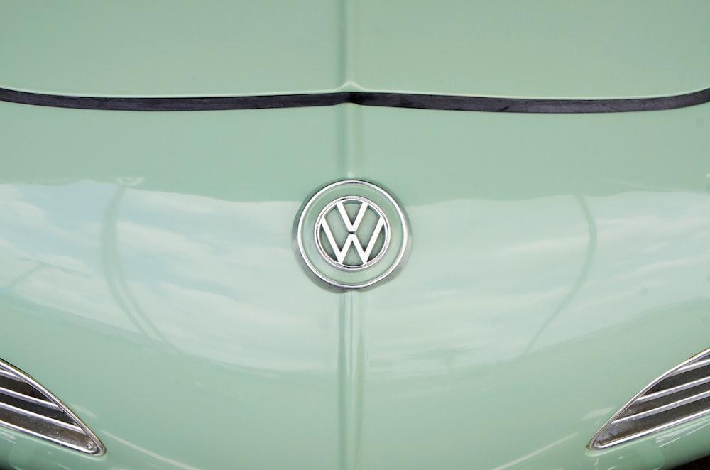 teal Volkswagen car