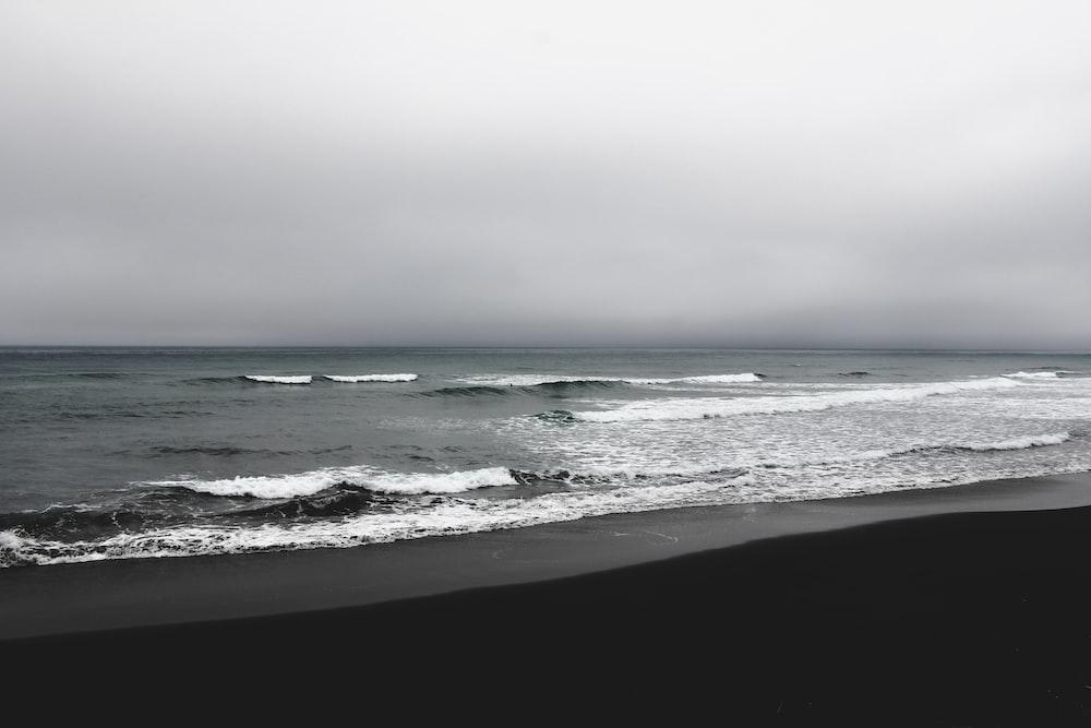 seascape photography of sea wave