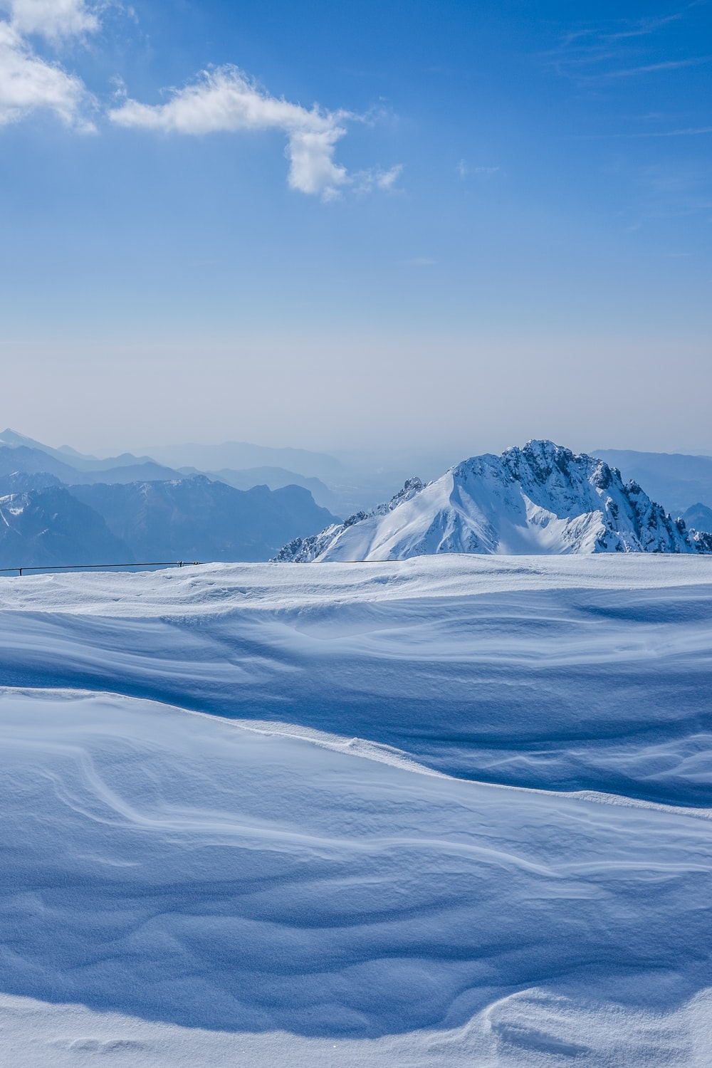 landscape photography of snow plain and mountain