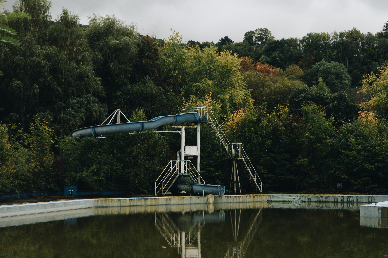 slide leading towards pool