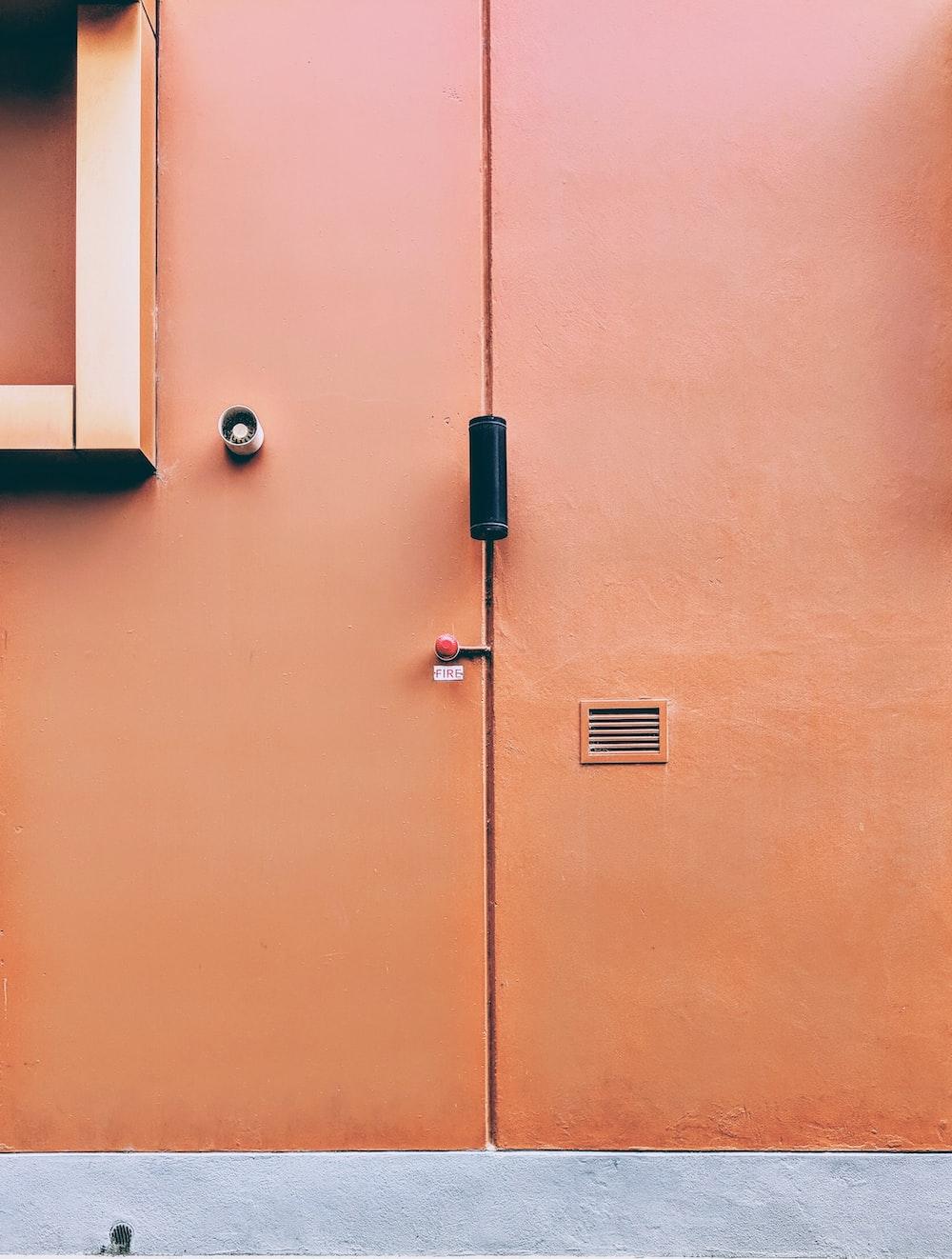 gray metal door handle