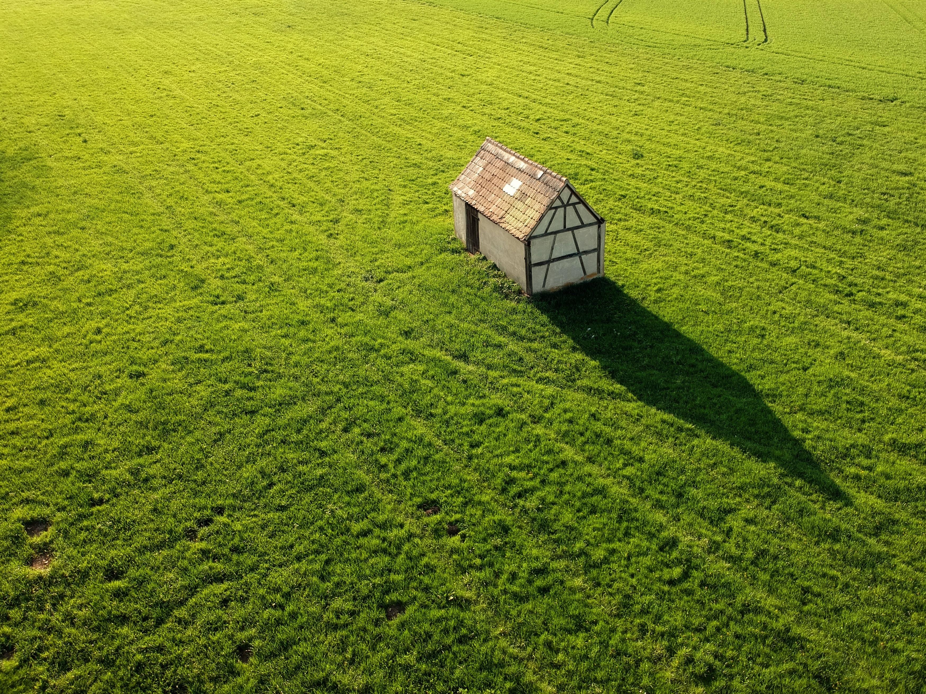 grey house on meadows