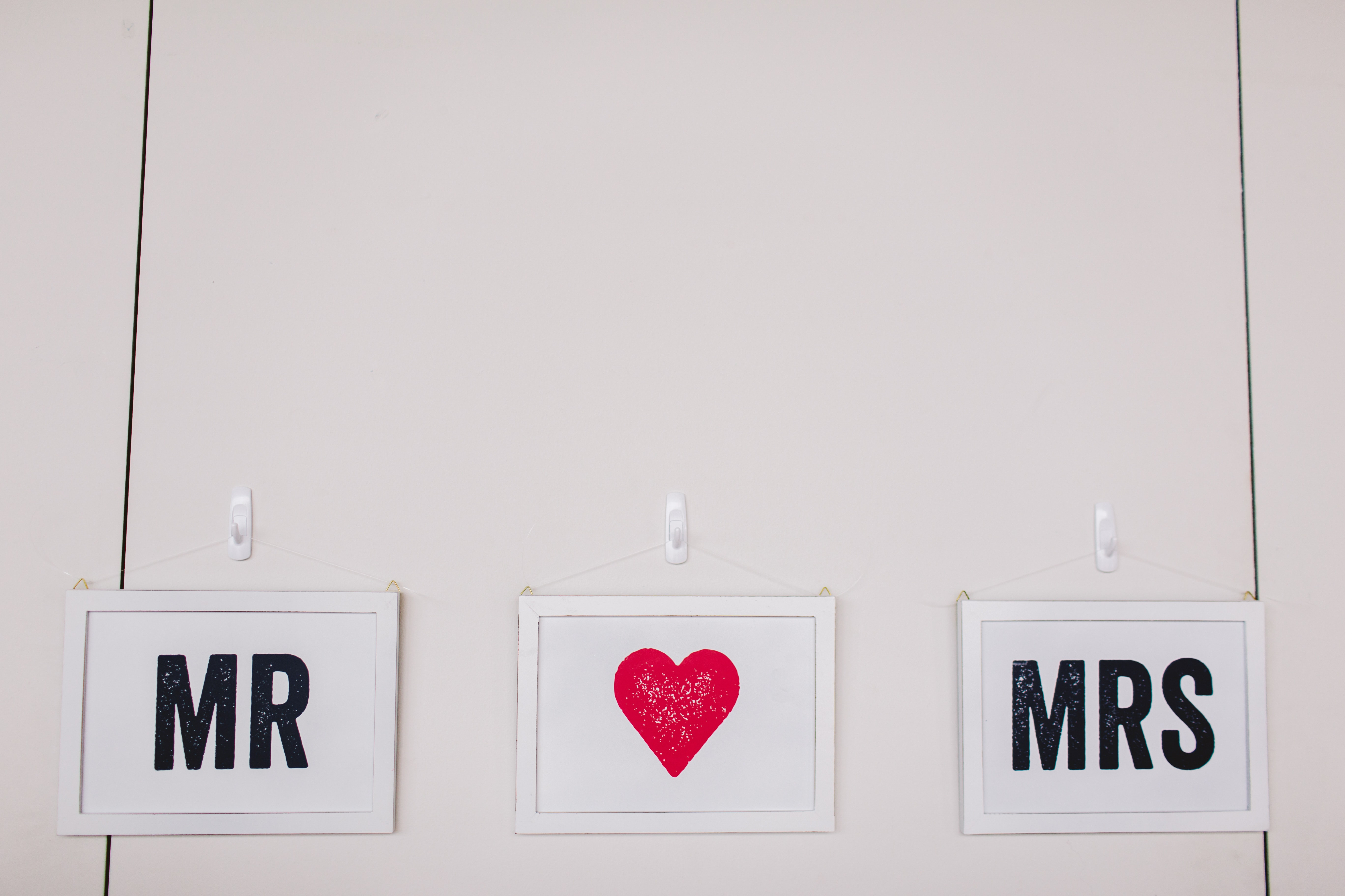 two Mr and Mrs wall decors