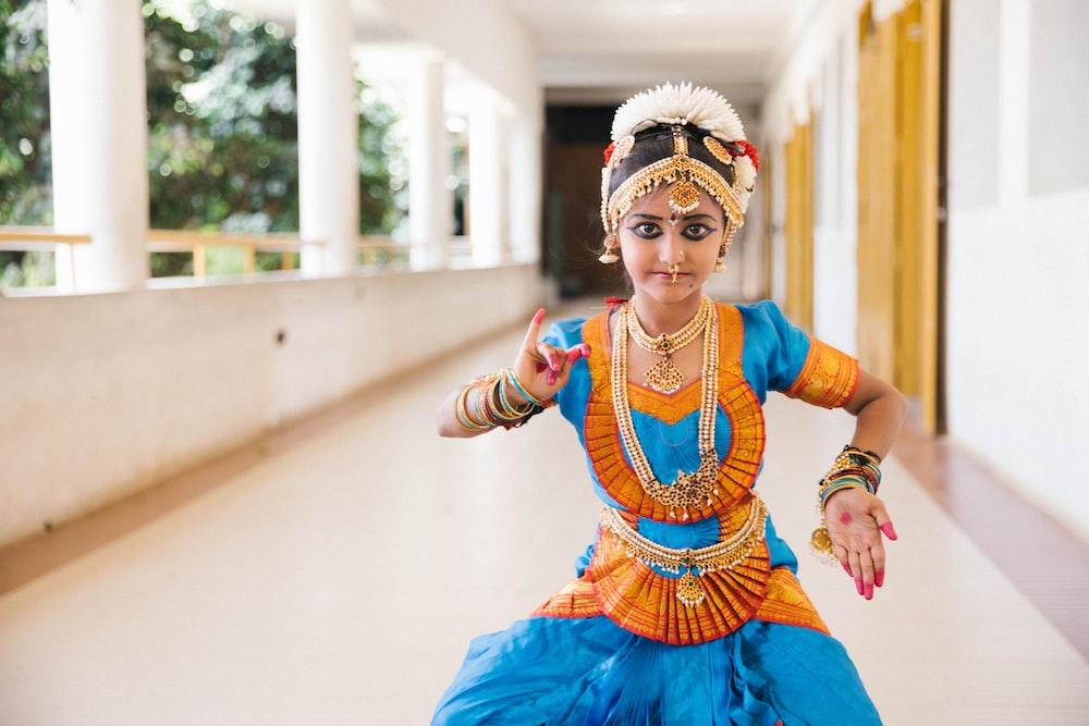 dancing woman on hallway at daytime