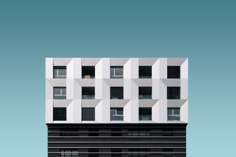 white and black buildin