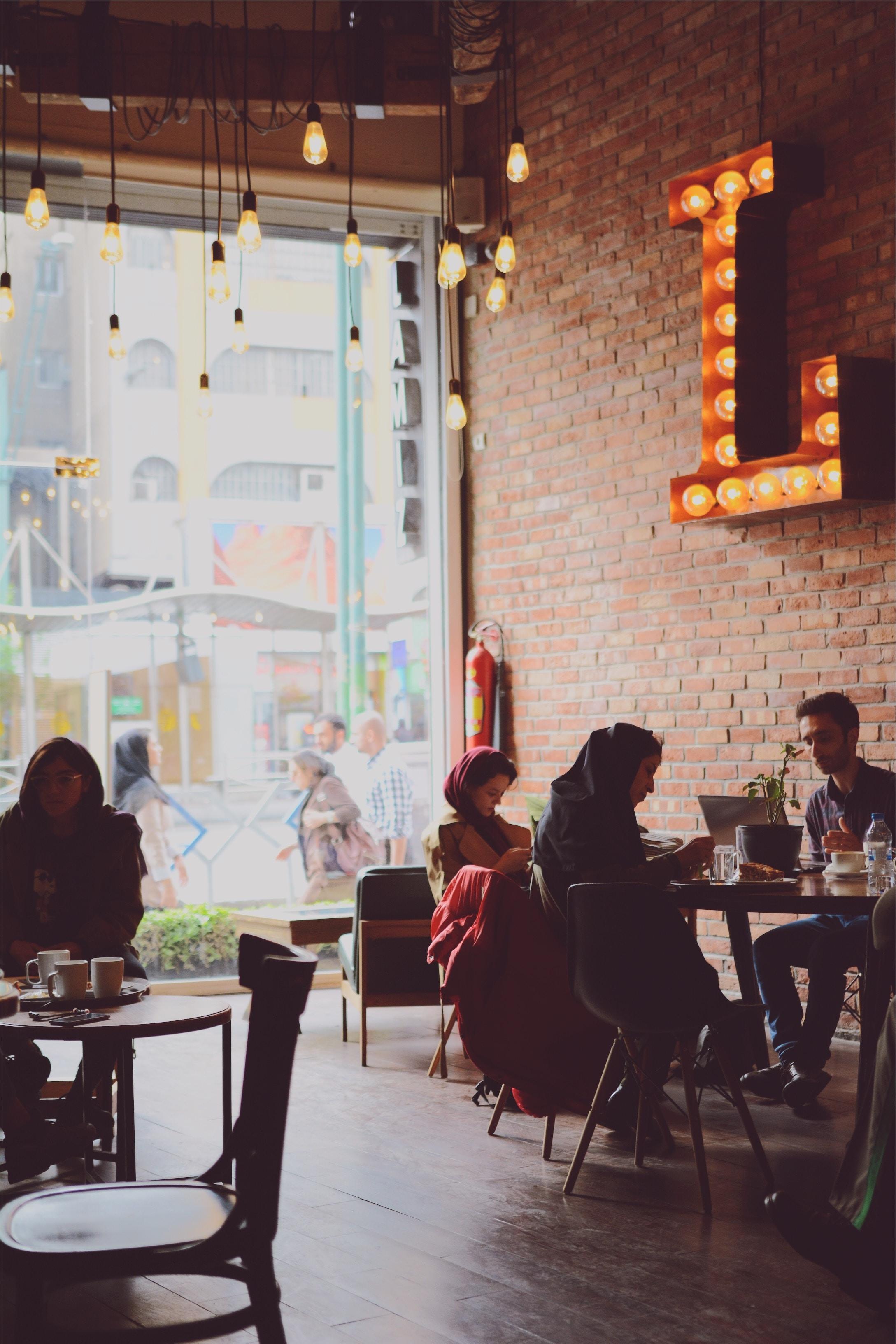 people sitting in coffee shop