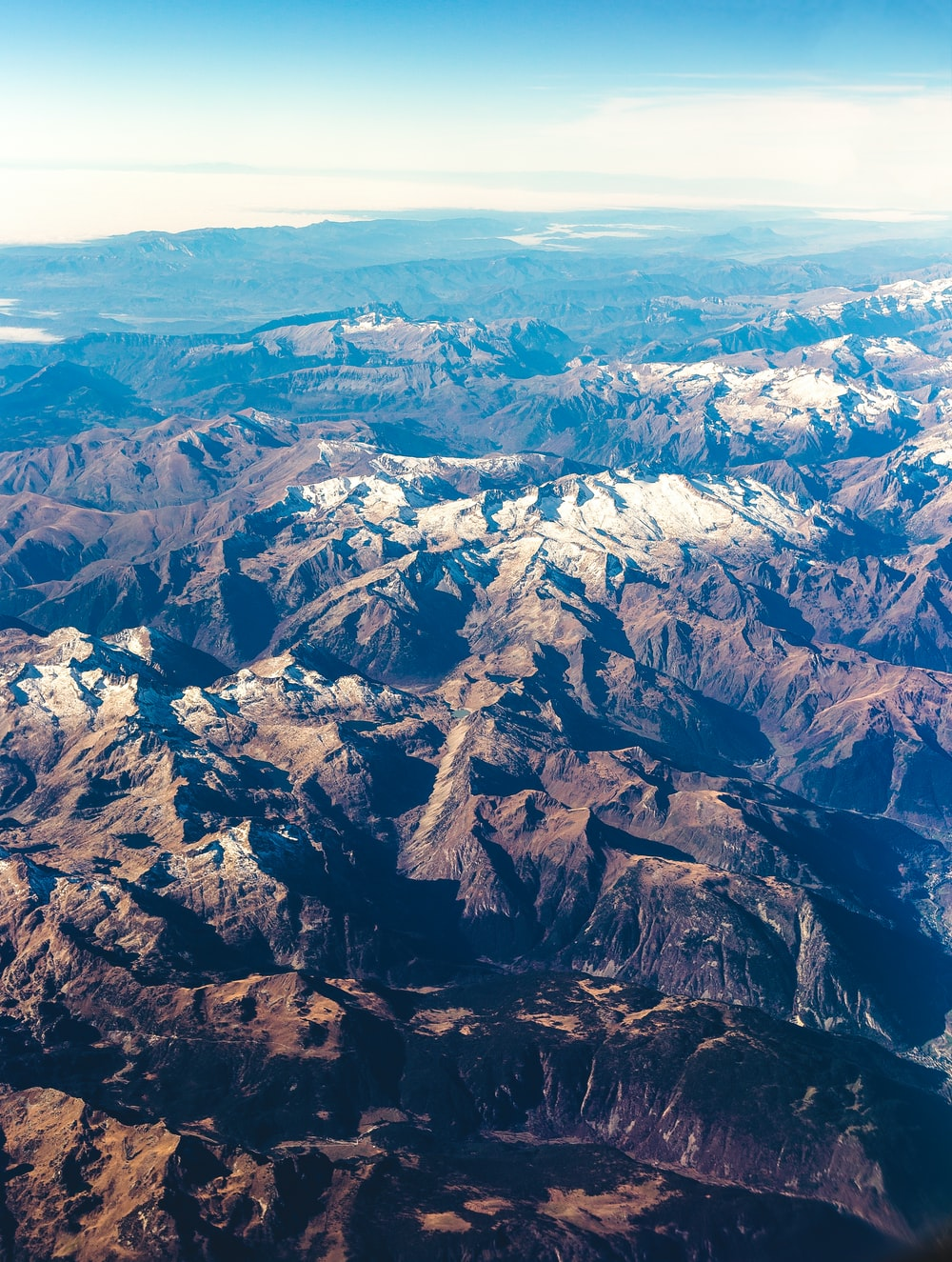 aerial view of mountains
