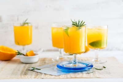 clear drinking glasses on table food styling zoom background