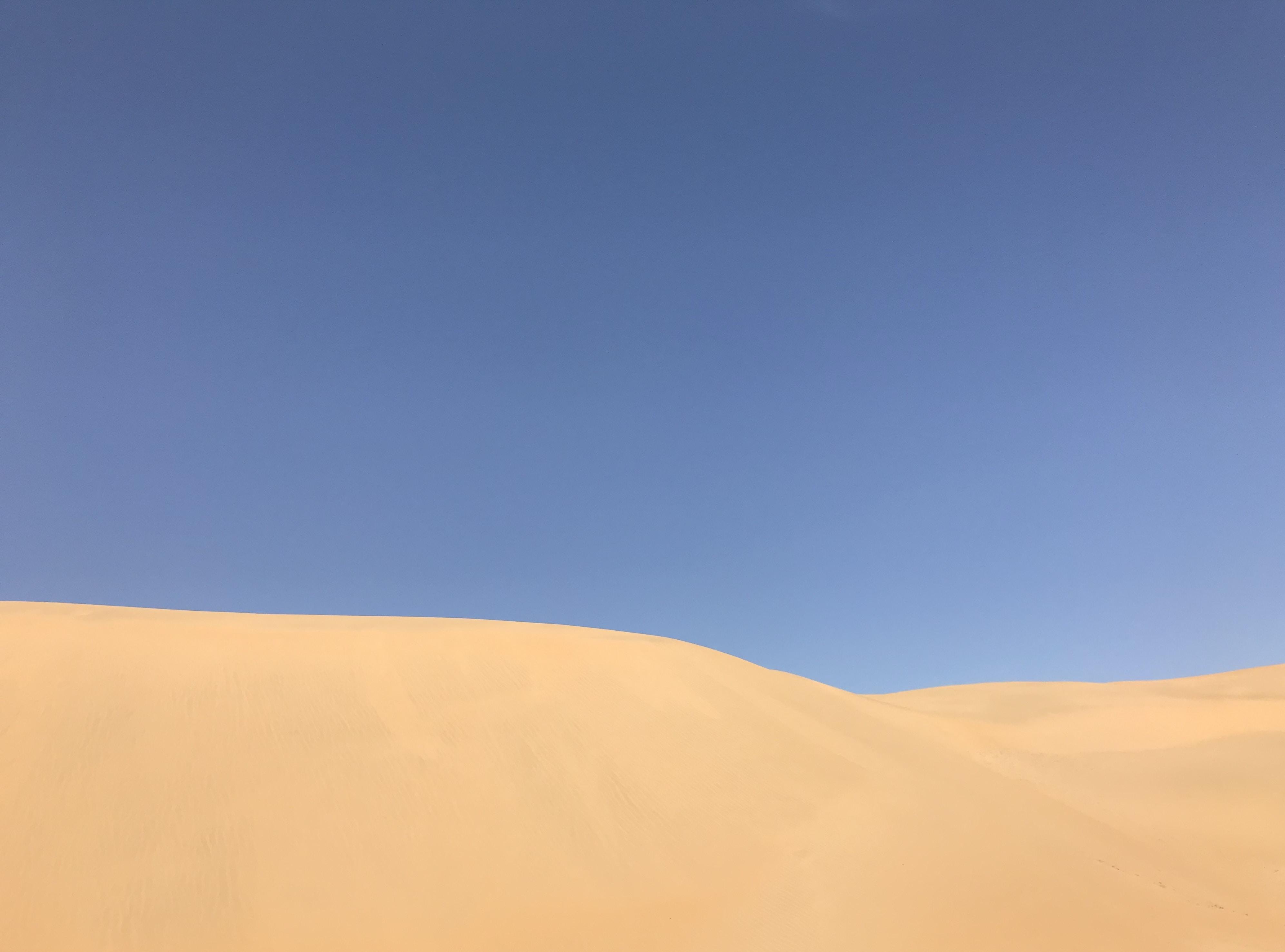landscape photography of desert