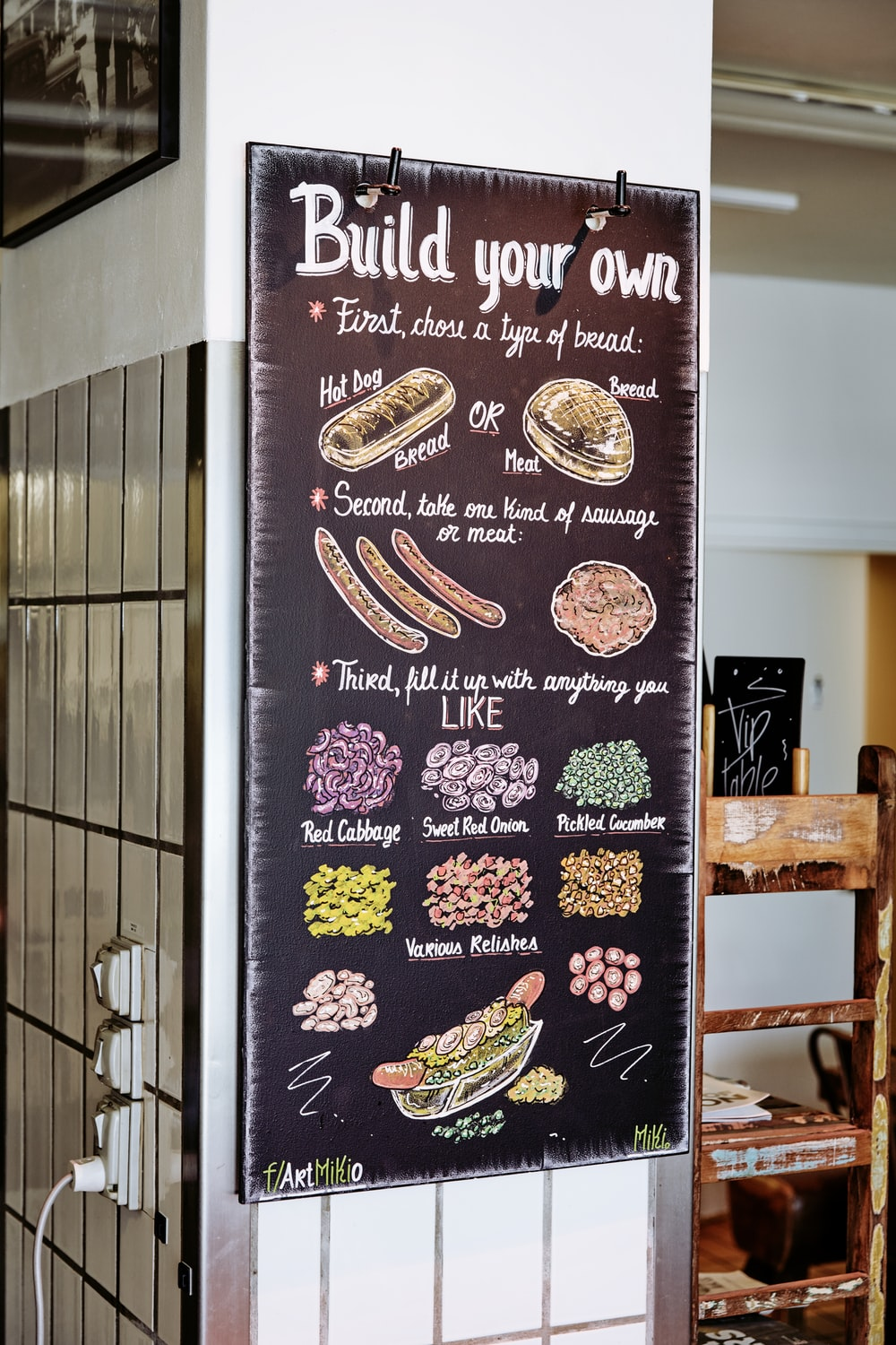 Build Your Own signage on wall
