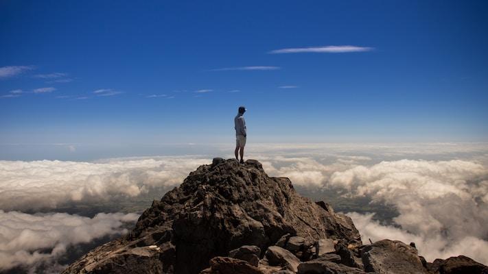 Scrambling to the Mountain Summit