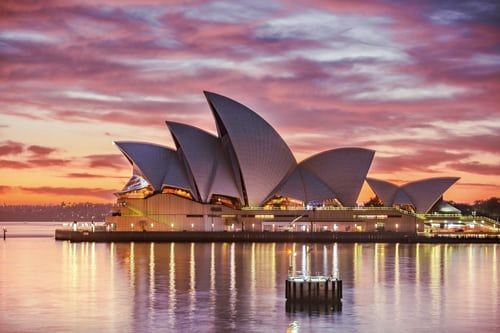 Opera house in Sydney- Holiday in december