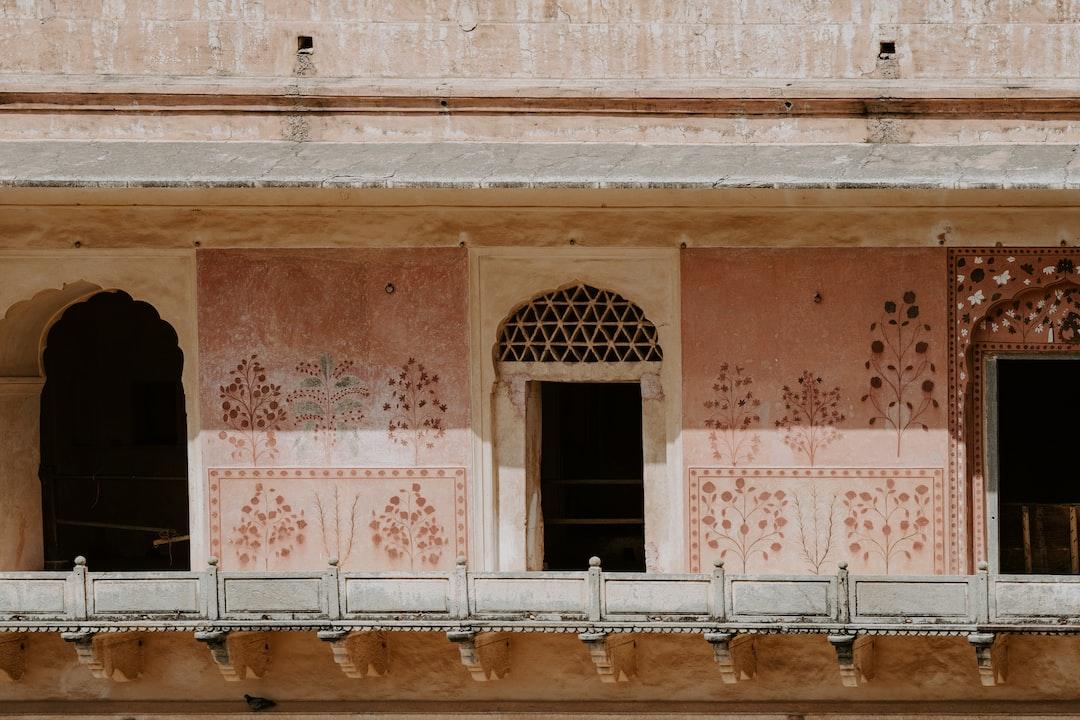 Pretty pink balcony