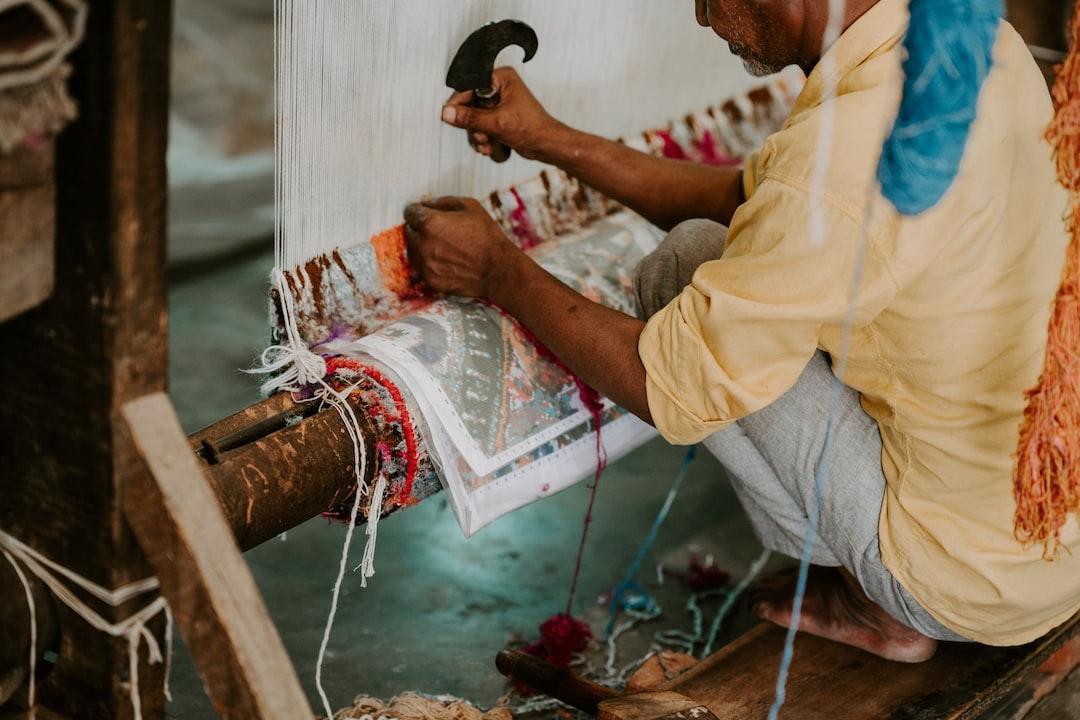 Rug weaving in India