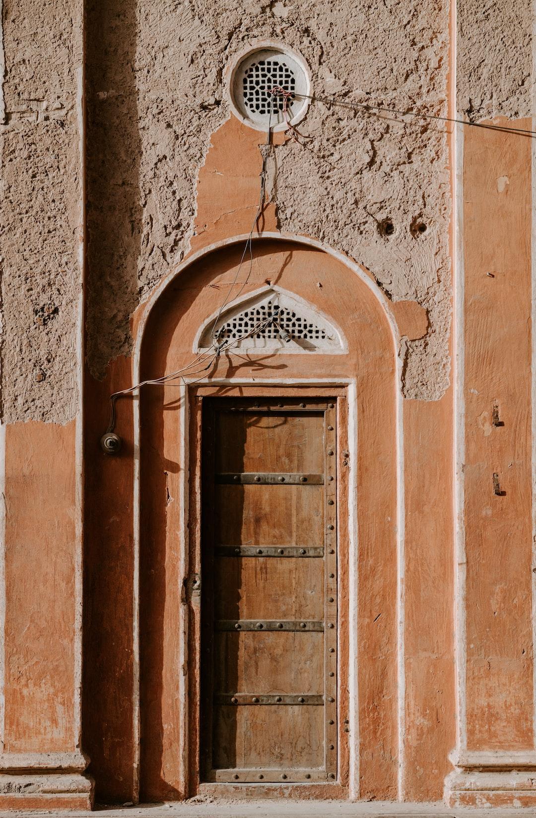 Terracotta door / doorway