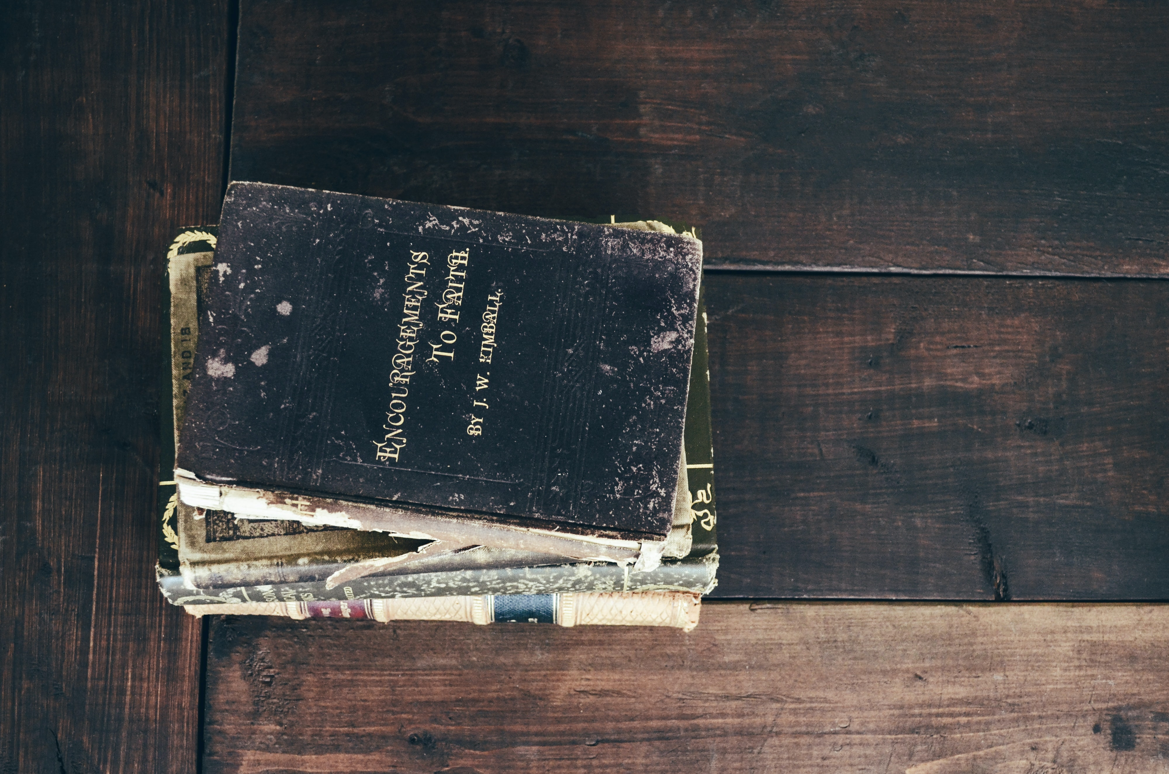 black covered book