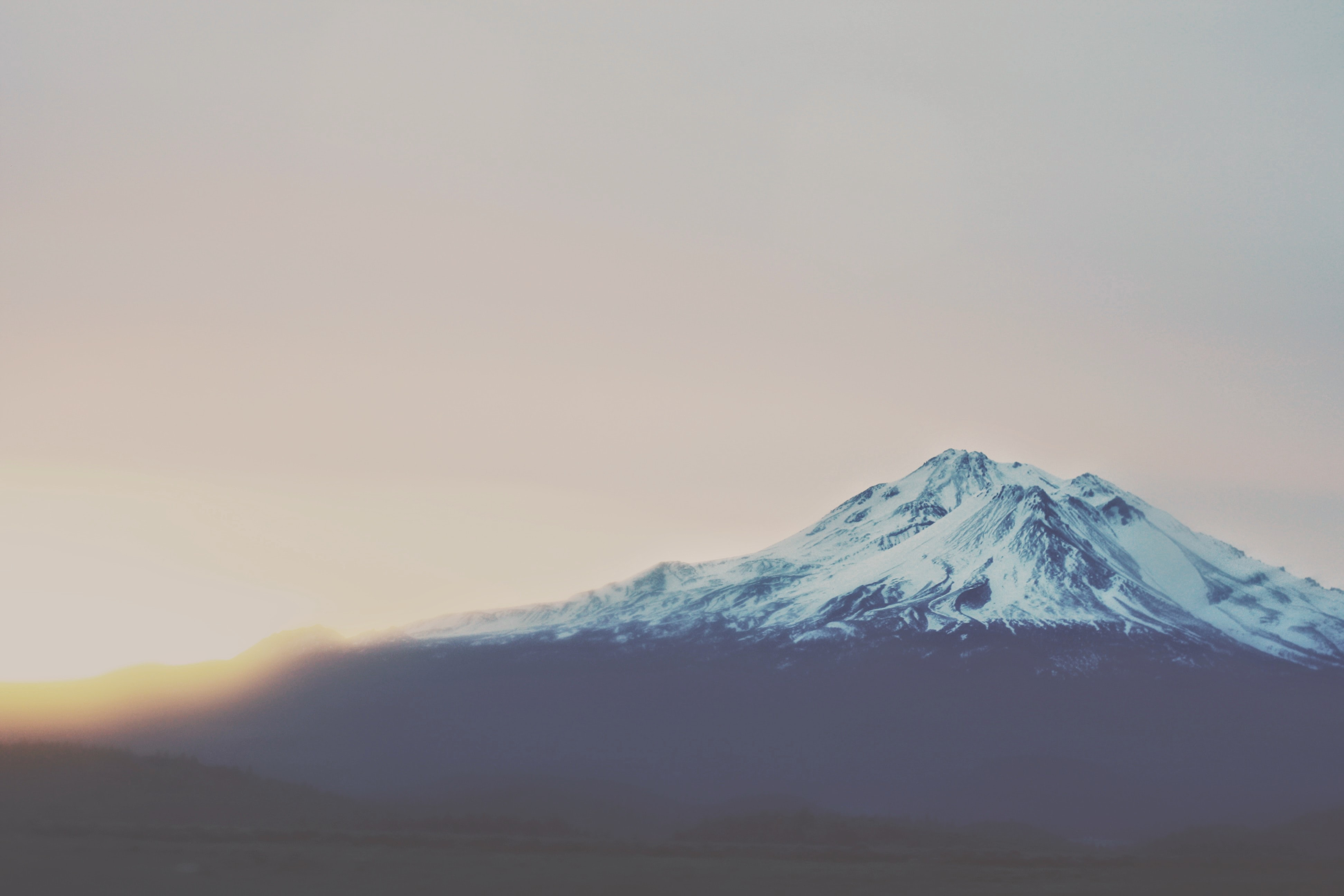 landscape photography of white and black mountain