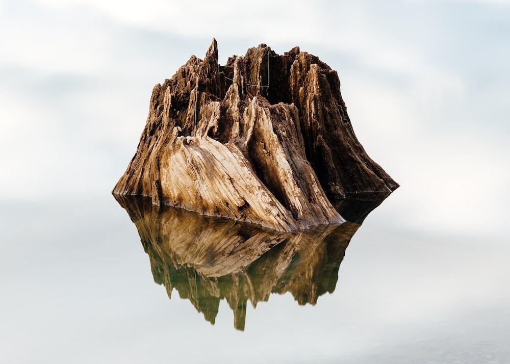 brown wooden frame