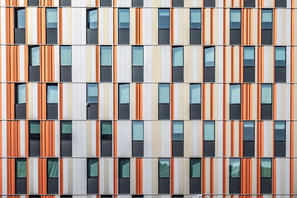 white and orange building