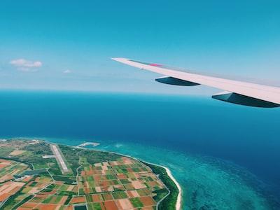 aerial photography of island tahiti teams background