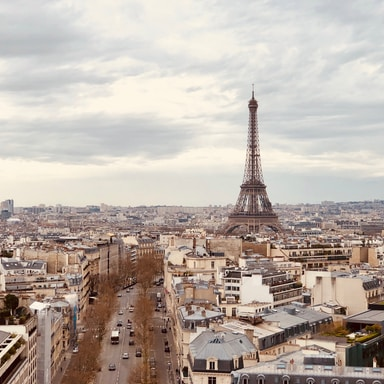aerial photography of Eiffel Tower