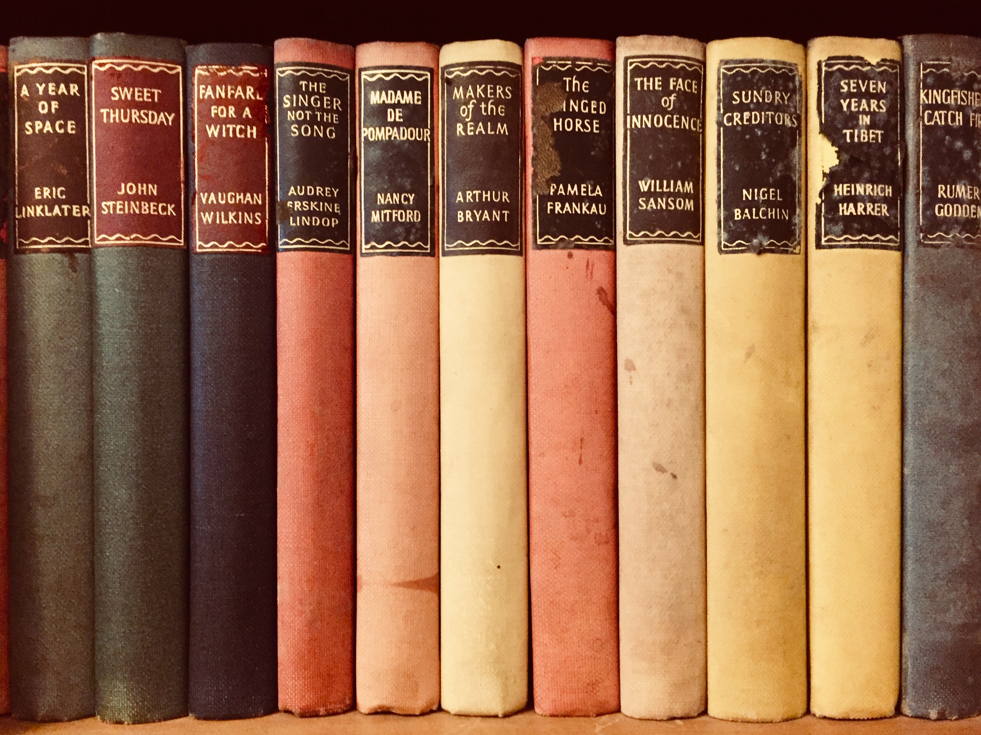 closeup photo of assorted-title books